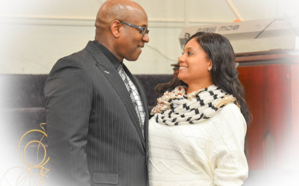 Pastor Kavin Jones and Mrs. Jones in a portrait.